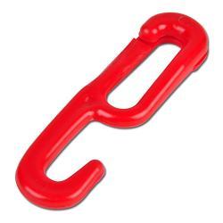 Einhängehaken für Kunststoff Gliederketten rot