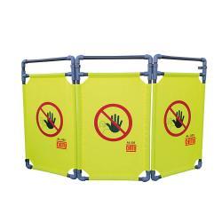Barriera di sicurezza pieghevole - CATU AL-325 - dimensioni 1710 x 1000 mm - pannelli in tessuto di poliestere \ n