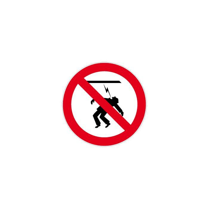 """Verbotszeichen """"Freileitung nicht nähern"""" - Ø 5-40 cm"""