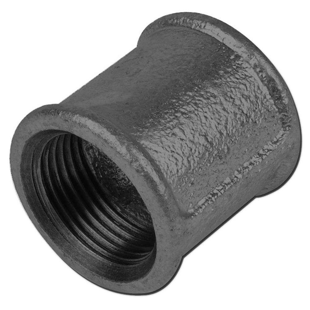 """Temperguss Muffe - Typ 270 - Gewinde 1/8"""" bis 4"""" -  Material Temperguss schwarz oder verzinkt"""