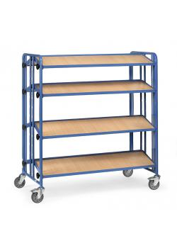 Assembly trolley - with 3 tilting wooden floors - two-sided version