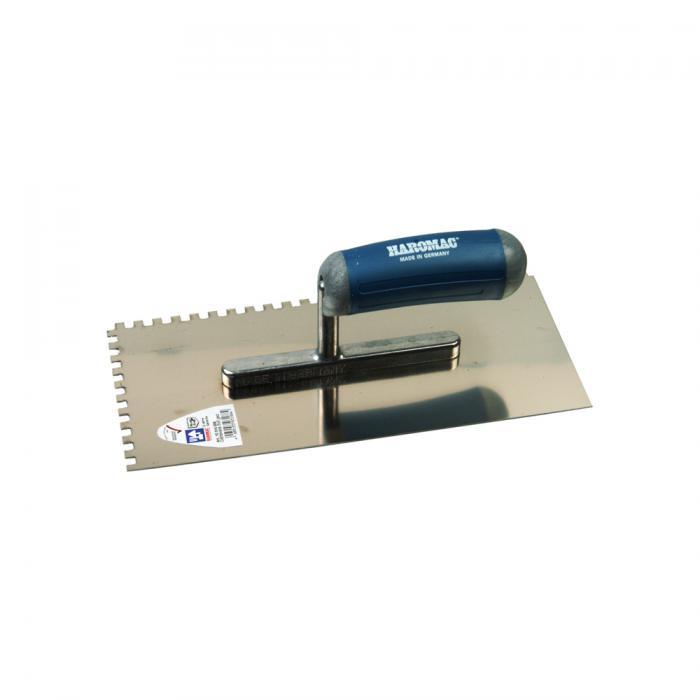 Glättekelle mit 2K-Ergo-Softgriff - gezahnt - Länge 280 mm