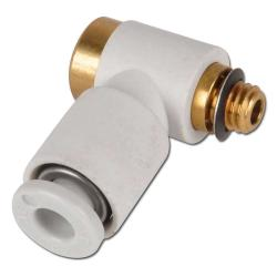 Connectors - 1x for hose to inner thread allen above 90 ° elbow model KQ2VS - El