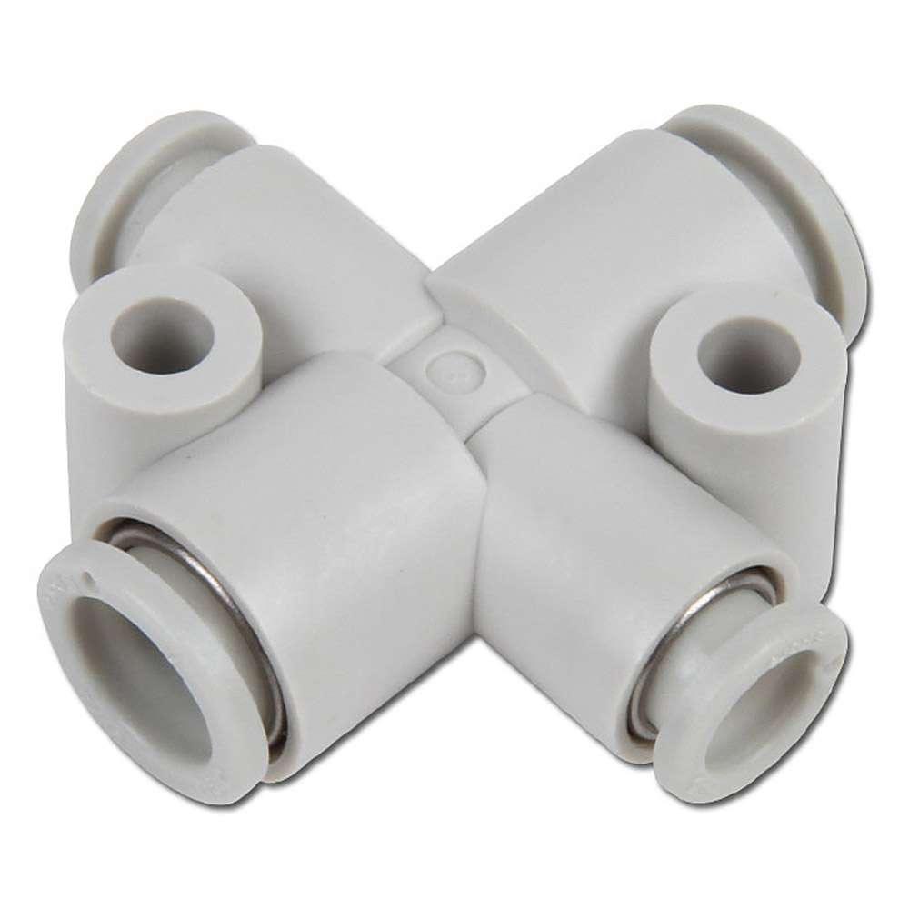 Stickkoppling - för slang-Ø 6-12 mm - för 4 slangar (2 reducerade)