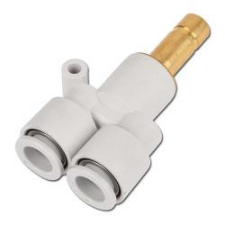 """KQ2U connector """"Y"""" - 3-fold hose Ø 3.2 - 16mm"""