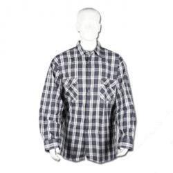 Arbetsskjorta - stl. 45 - 100% bomull (flanell) - lång rygg 90 cm