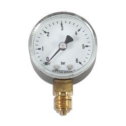 Restposten - Manometer - Ø 50 mm - Anzeige  0 bis 6 bar