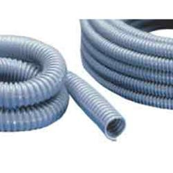 Remaining stock - Cable protection hose - PVC - 70 ° C - Ø-inner 21 mm - Ø-outer 27 mm - bending radius 27 mm