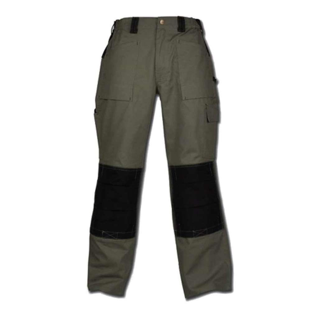 """Restposten - Arbeitshose """"GDT 290"""" - 100 % CO - robust - viele Taschen - Größe 126 - olivgrün/schwarz"""