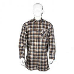 Flanellskjorta - stl. L (41/42) - 100% bomull - längd 105 cm