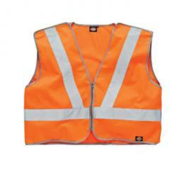 """Restposten - Sicherheitsweste - Gr. XXXL - orange - EN471/1 - 100 % PES - GO/RD 3279-2008 - Reißverschluss - Seitliche Klettverschlüsse zur Justierung - """"Klett"""""""