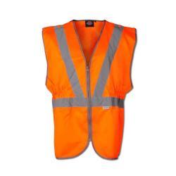 Restposten - Weste GO/RT - EN471/2 - 80 % PES - 20 % CO - Warnschutz - Knopfleiste - Größe XL - orange