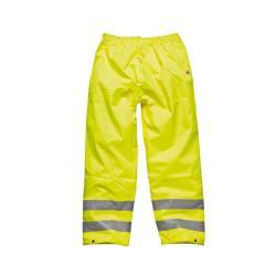 rimanenze - Pantaloni ad alta visibilità - impermeabili - Dickies - colore giallo - taglia S