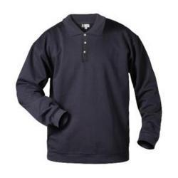 Tröja - storlek XXL - blandväv, 280 g/m² - 3-knappslist - marinblå