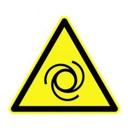 """Varningsskylt """"varning för automatisk start"""" - läsavstånd 10/20 m"""