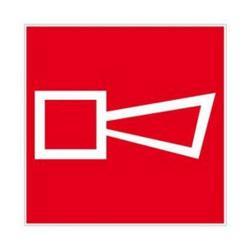 """Restposten - Brandschutz-Zeichen """"Alarmhupe"""" - Folie nachleuchtend (selbstklebend) - Seitenlänge 10 cm - Dicke 0,3 mm - im Innen- und Außenbereich einsetzbar"""