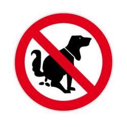 """Forbud skilt - """"Ingen hund toilet"""" - diameter 5-40 cm"""