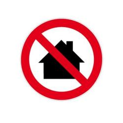 """Restposten - Verbotszeichen - """"Nicht in Wohngebieten verwenden"""" - Durchmesser 5 cm - Dicke 0,3 mm - Folie - selbstklebend - im Innen- und Außenbereich einsetzbar"""