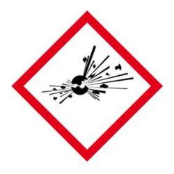 """Faropiktogram """"explosiv"""" - sidolängd 5-40 cm"""