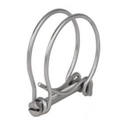 Remaining stock - double wire Hose clamp - clamping range 197-210 mm - galvanized steel