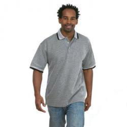 "Remainders - polo shirt ""Reebok Rip"" - 100% cotton - with side slits - 40 ° C washable - Gr. 2XL - medium gray"