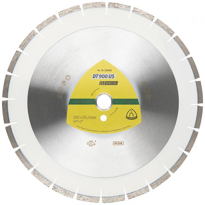 Diamanttrennscheibe DT 900 US - Durchmesser 300 bis 500 mm - Bohrung 25,4 mm - lasergeschweißt