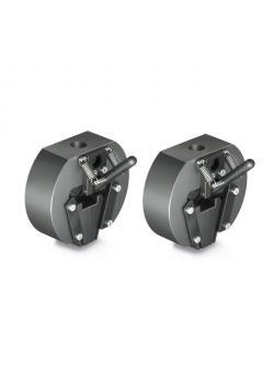 Tension puristin - kiila suunnittelu - max. Kuormitus 10 kN - max. Siipien kärkiväli 10 mm - 2 kpl