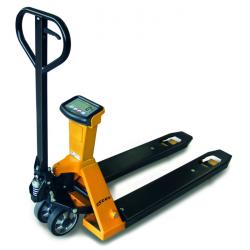 Weighing scales pallet truck - up to 2000 kg - including printer- with pallet tr