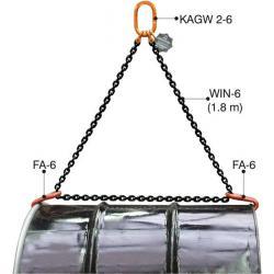 Kedjehängare för fat - horisontell - typ PVS - upp till 1000 kg