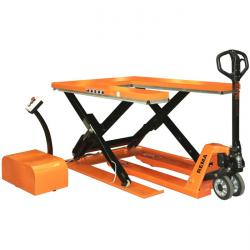 """Scissors-type lifting table """"Rema Hsu"""" - up to 1500 kg - low table with U-disk"""