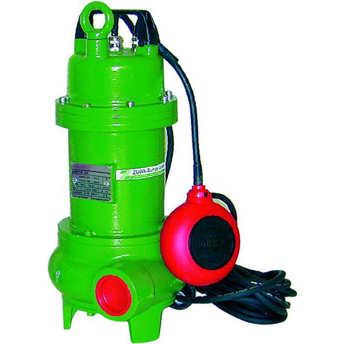 Pompa dell'acqua sporca Vortex - max. 2,2 kW - max. 700 l / min - granulometria max. 55 mm - Interruttore a galleggiante a 230 V