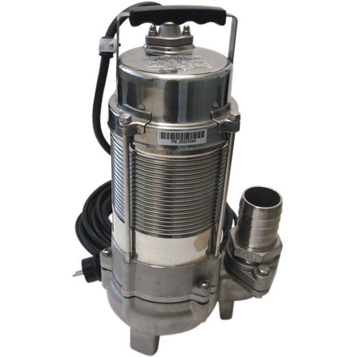 Schmutzwasserpumpe Vortex Niro - Edelstahl - max. 2,2 kW - max. 1120 l/min - Schwimmschalter bei 230 V