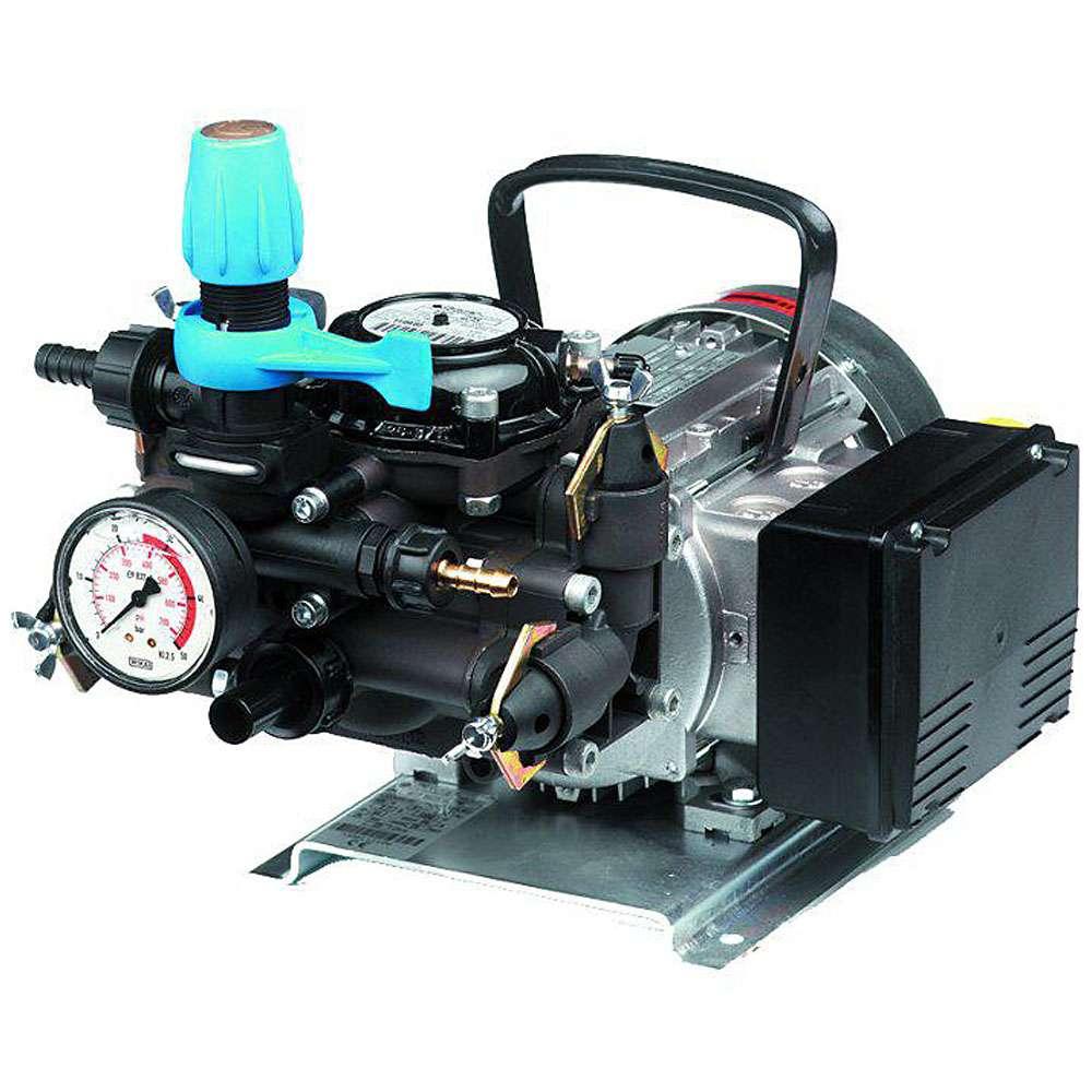 Membranpump MC 25 - elmotor 230 V / 400 V - hus av anodiserad aluminium - 23 l / min - 25 bar