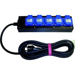 Stromverteiler - IP 44 6mm bis 16mm - 230 V 5 Steckdosen - 5 m