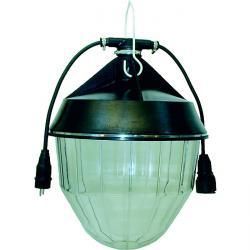 Industrilampa - IP 55 - 500 W - stickpropp och koppling