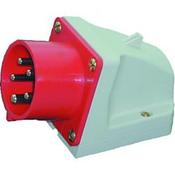 Wall device plug splashproof 5-pole - 400 V - 6 H