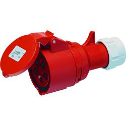 CEE coupling splashproof 5-pole- 400 V - 6 h