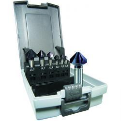 Taper och gradning set TiAlN belagda - ALFRA - HSS-E - 6,3-25,0 mm
