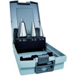 Blechschälbohrer Set - ALFRA HSS DM 05 - je 1x Größe 1/Größe 2/Größe 3