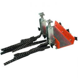 Pipe-fixing tool - mechanical - with two chain clamps