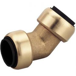 Right-angle connector STV-W45 for Schneider Click it System 15-28 mm, brass NBR