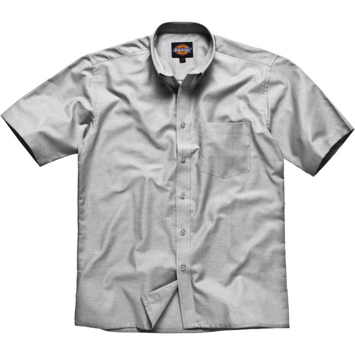 "Skjorta ""Oxford"" - herr - Dickies - kortärmad - silvergrå"
