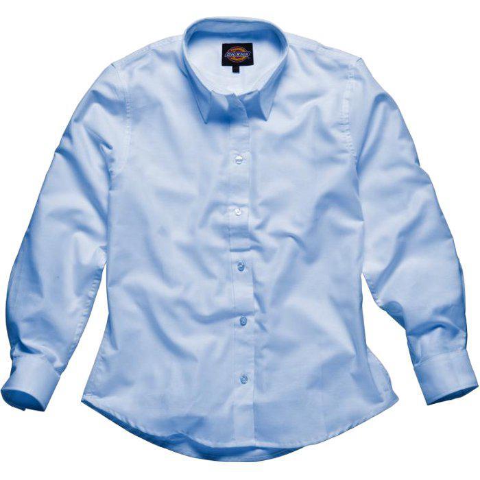 "Blus ""Oxford"" - dam - Dickies - långärmad - blå"