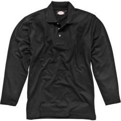 Polo - Dickies - manica lunga - colore nero - lavoro e tempo libero