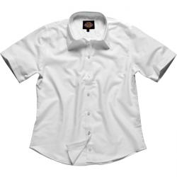 "Blouse ""Oxford"" - Dickies - Manches courtes - Blanc - travail & Loisirs"