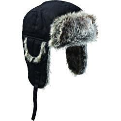Trappermütze - Dickies - schwarz - mit Fleece und Kunstfell - Einheitsgröße