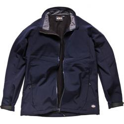 "Soft Shell Jacket ""Interactive System"" - element - navy blue - waterproof - brea"