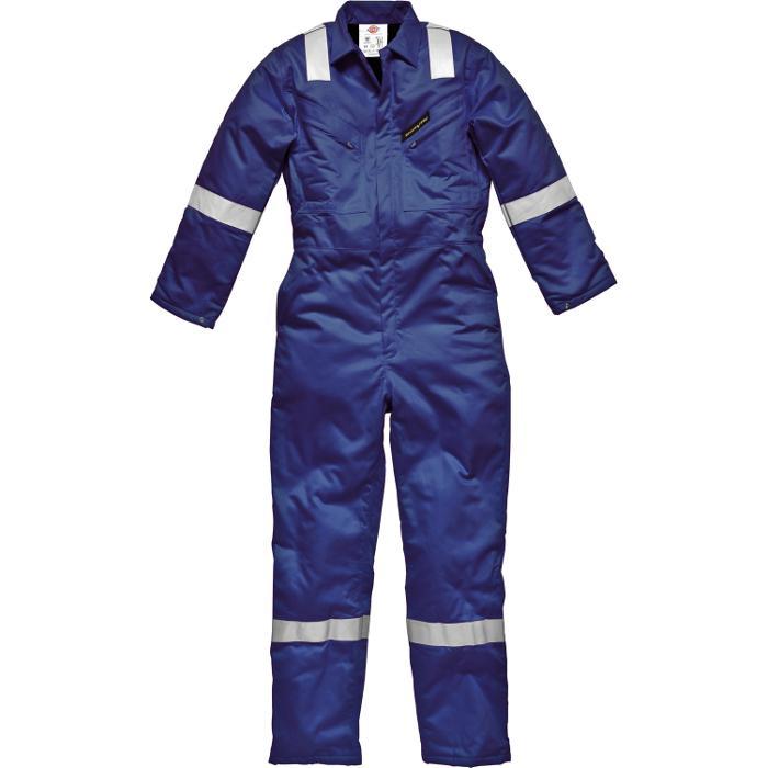 """Övergripande """"Firechief Pyrovatex"""" - Dickies - EN531 - storlek 48 till 64 - kungblå"""