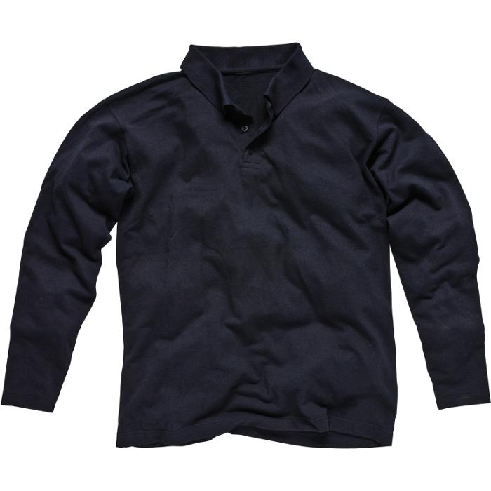 Pikétröja - Dickies - flammhämmande - marinblå