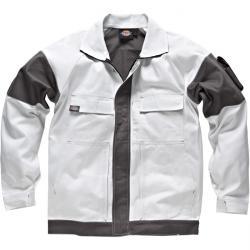 """Arbeitsjacke """"GDT 290"""" - Dickies - weiß/grau - 100% Baumwolle"""